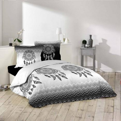 Housse de couette 240 x 260 cm taies attrape r ve for Housse de couette ou couvre lit