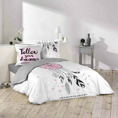 Housse de couette 220 x 240 cm taies attrape r ve for Housse de couette ou couvre lit