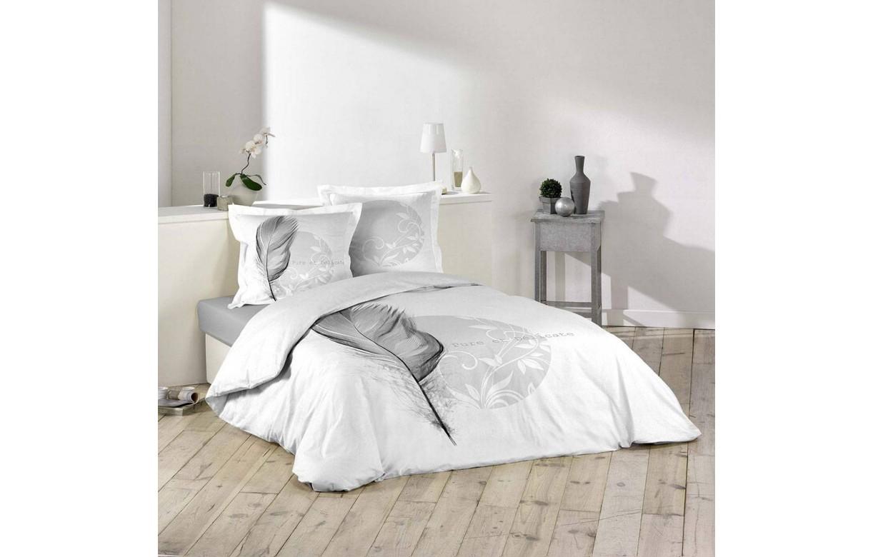 housse de couette 220 x 240 cm taies eve plumes. Black Bedroom Furniture Sets. Home Design Ideas