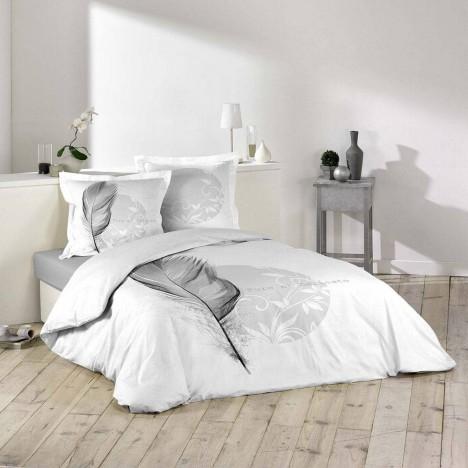 housse de couette 240 x 260 cm taies eve plume. Black Bedroom Furniture Sets. Home Design Ideas