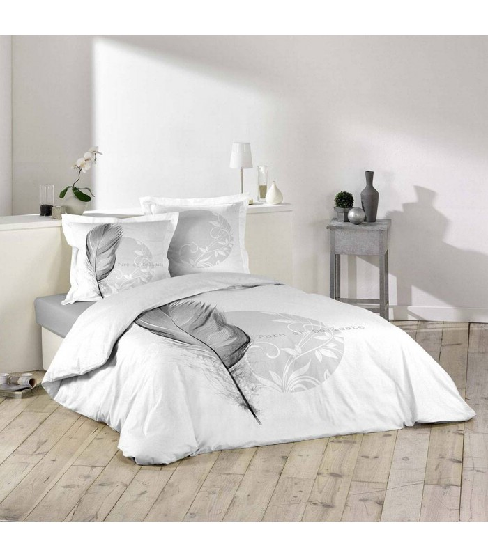 Housse De Couette 240 X 260 Cm Taies Eve Plume Decome Store