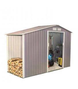 Abri de jardin en m tal gris taupe 5 3 m2 decome store for Cabane de jardin sur mesure