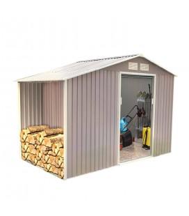 Cabane de jardin en métal gris taupe 6,5 m2.