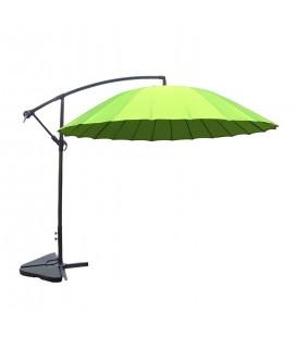 Parasol déporté rond diamètre 3 m vert -