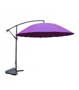 Parasol déporté rond diamètre 3 m violet -