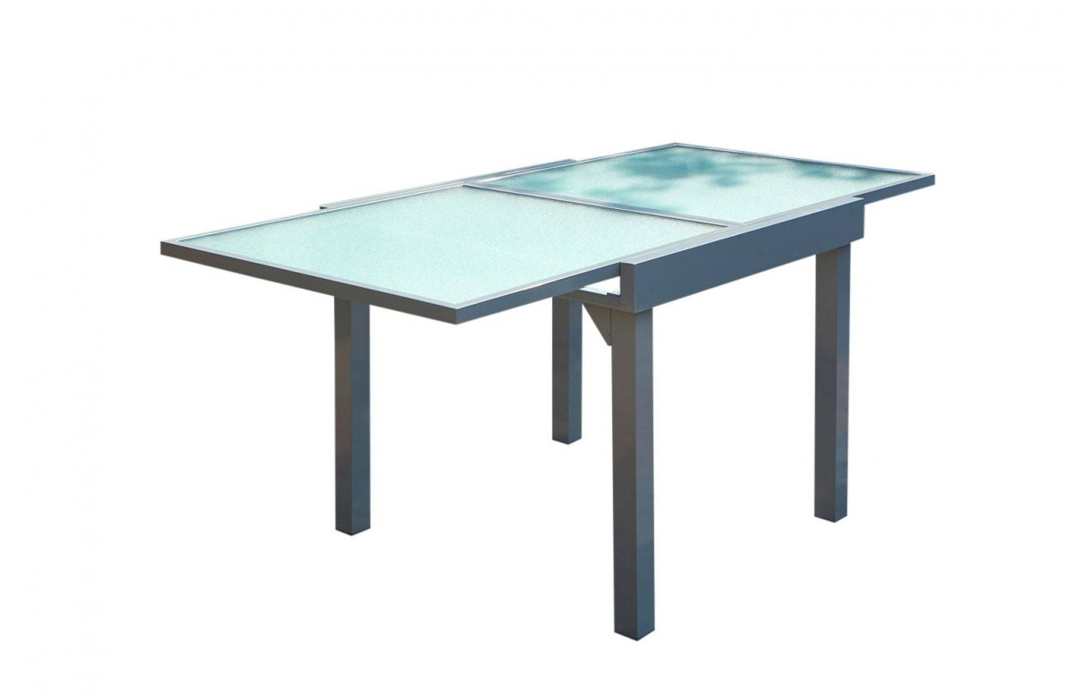 table d 39 ext rieur grise rallonges en aluminium et 4