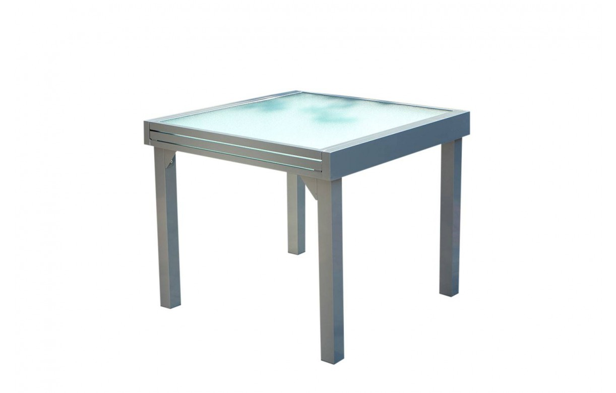 table d 39 ext rieur grise rallonges en aluminium et 8