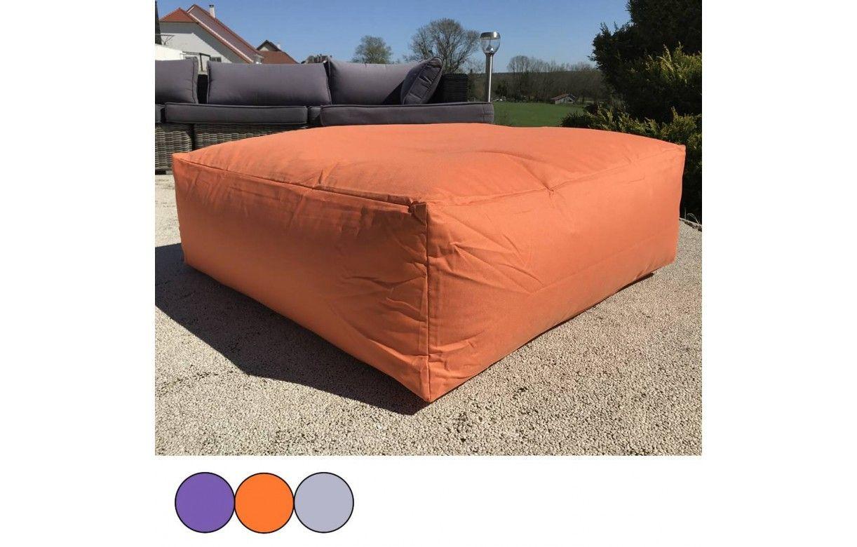 maxi coussin de sol orange gris ou violet 90 x 90 cm decome store. Black Bedroom Furniture Sets. Home Design Ideas