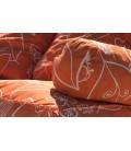 Coussins pour palette orange à motifs - Ensemble complet -