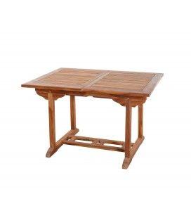 Table de jardin à rallonge intégrée en teck 180cm Besuki