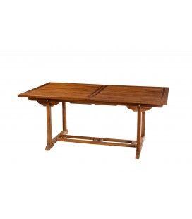 Table de jardin à rallonge intégrée en teck 240 cm Besuki