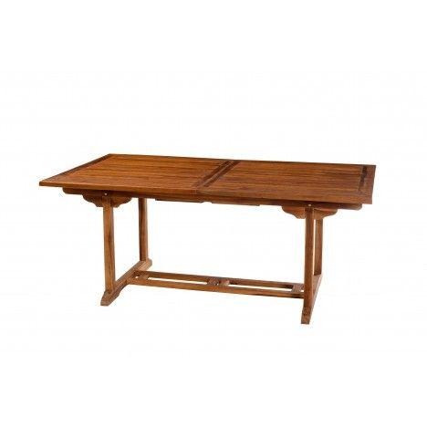 Table de jardin à rallonge intégrée en teck 240 cm Besuki -