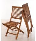 Table de jardin en teck massif et 6 chaises pliantes Besuki -