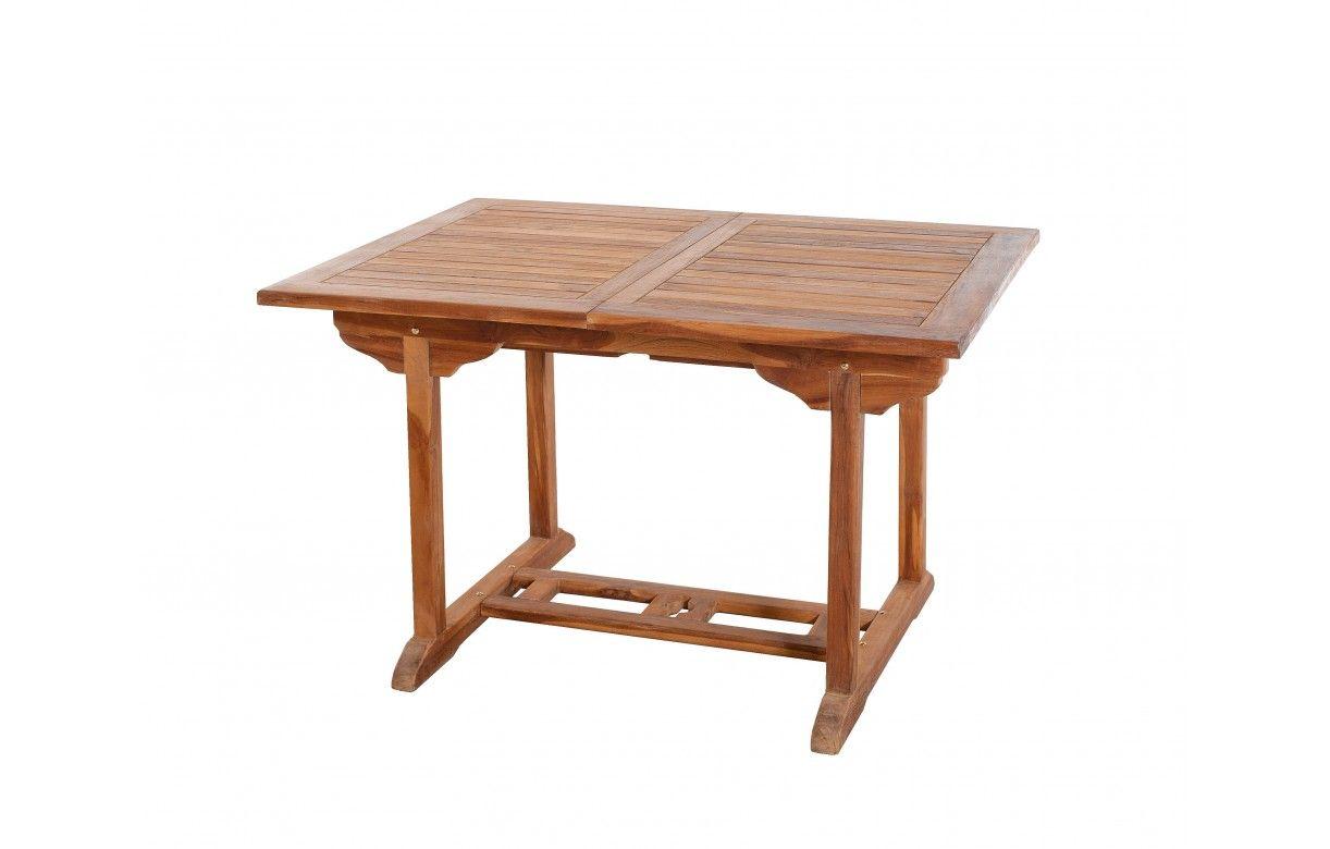 Table D Exterieur En Teck Et 6 Chaises Pliantes Besuki