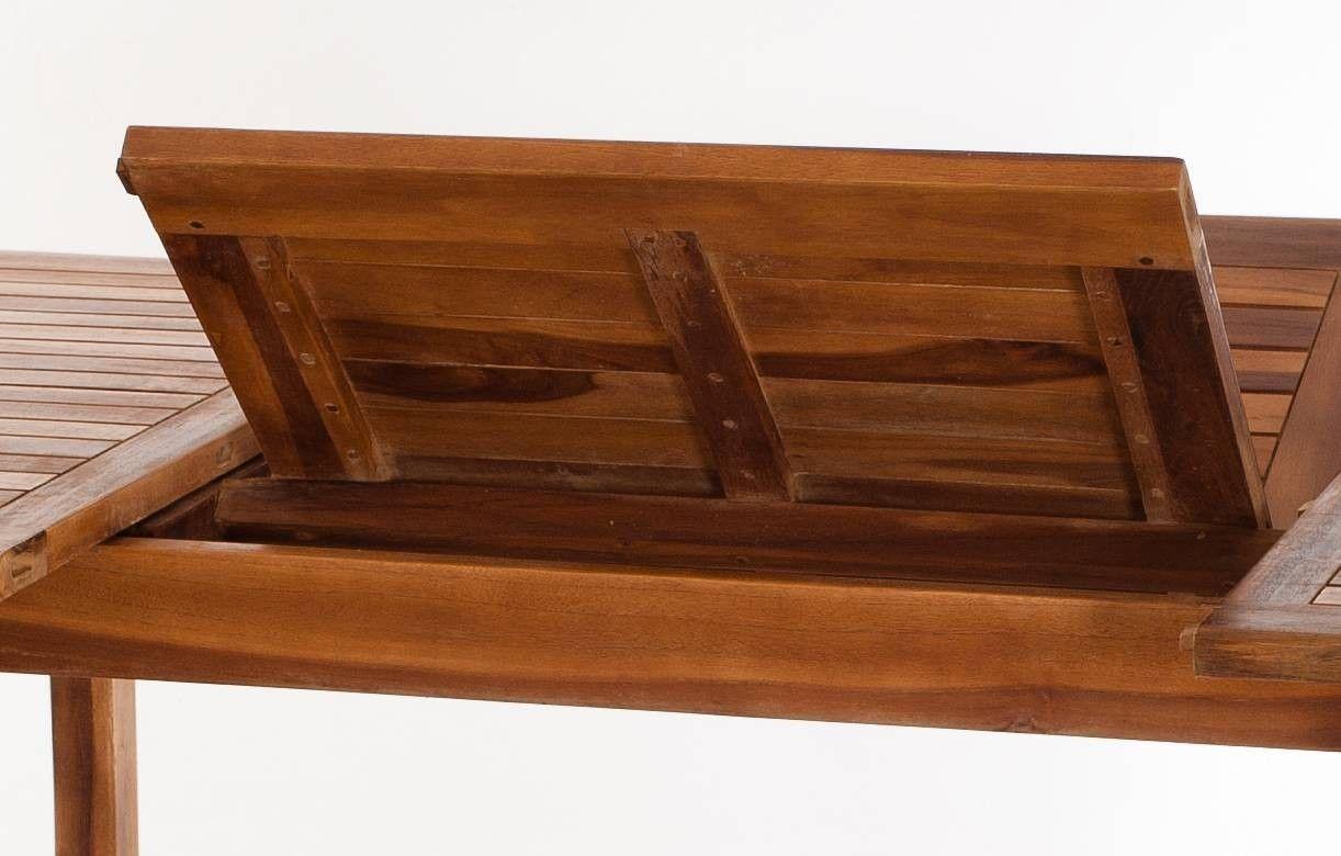 Table de jardin extensible en teck 240cm + 6 chaises Besuki