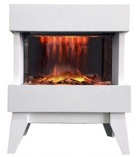 Foyer electrique blanc Vidrio flamme 3D -