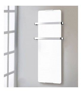 Sèche serviette blanc verre trempé 1200w - H120cm -