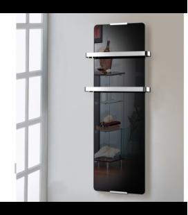 Porte-serviette chauffant noir 600W Chemin'arte -