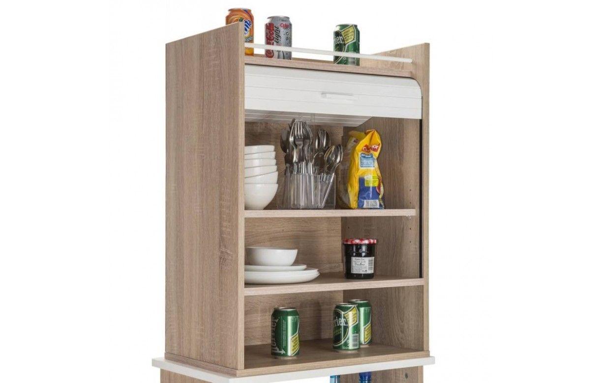 meuble de cuisine bois clair avec rideaux d roulant decome store. Black Bedroom Furniture Sets. Home Design Ideas