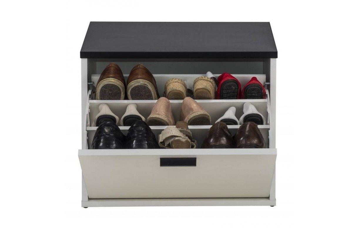 Banc Rangement De Chaussures Noir Et Blanc Lucky