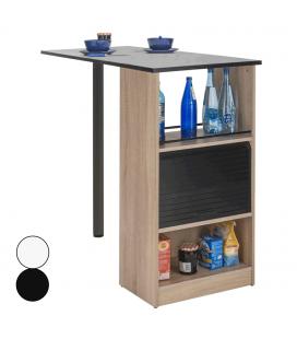 Rangement de cuisine bois clair avec table intégrée Lucky