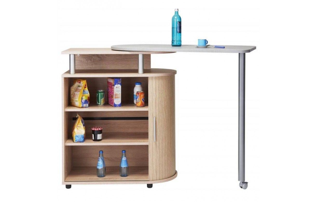 Table Haute Avec Rangement rangement de cuisine bois clair avec table pivotante lucky