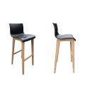 Chaise de bar avec pied bois massif - Lot de 2 -