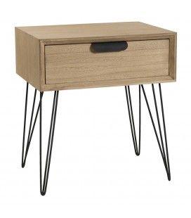 Chevet en bois avec tiroir MARJORIE