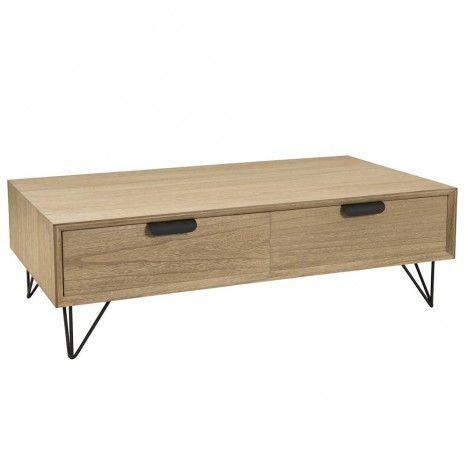Table basse 4 tiroirs gamme MARGAUX -