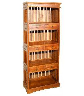Étagère en bois massif avec 6 cases et 6 tiroirs JOCA