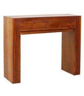Console en bois massif design moderne 2 tiroirs JOCA