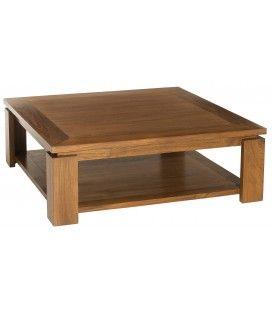 Table basse sous plateau 90 x 90 cm en bois massif JOCA