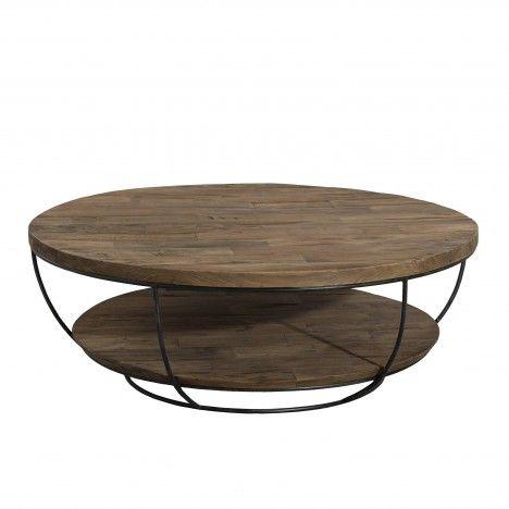 Table basse coque noire double plateau 100 x 100 cm gamme SIXTINE -