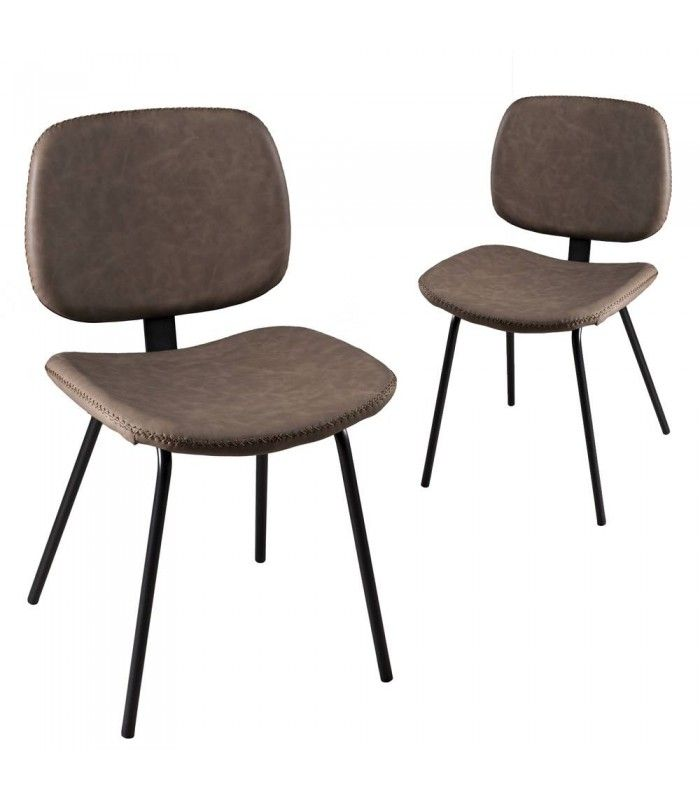 Lot De 2 Chaises Jimmy Marron Gamme TOM