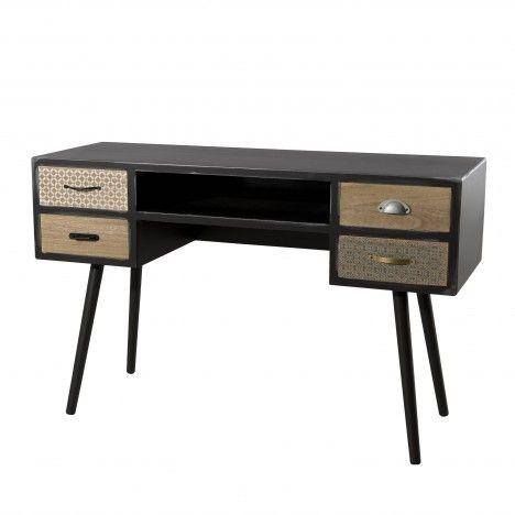Bureau 4 tiroirs gamme LEON -