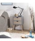 Chevet 2 tiroirs gamme LORENZO -