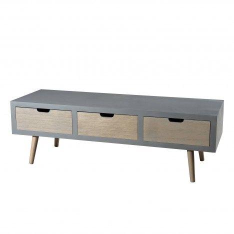 Meuble tv 3 tiroirs gamme LORENZO -