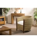 Cabriolet rotin avec coussin gamme LORINE -