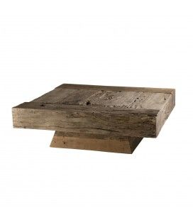 Table basse carrée bois massif gamme MATHIS -