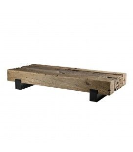 Table basse traverse bois massif gamme MATHIS -