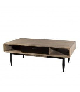 Table basse 2 tiroirs 2 niches gamme PALOMA -