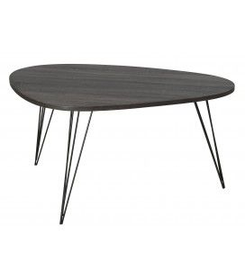 Table basse ovoide pieds métal scandi gamme JULIA -