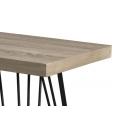 Console rectangulaire pieds métal scandi gamme JULIA -