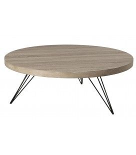 Table basse ronde 90 x 90 cm pieds scandi gamme JULIA -