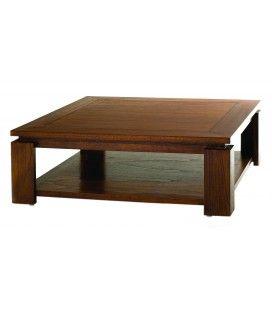 Table basse sous plateau 90*90cm bois massif LORIE