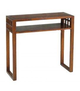 Console rectangulaire 1 étagère bois massif LORIE