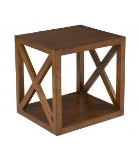 Etagère 40 cm 1 case croisillon bois massif LORIE