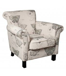 Fauteuil Will tissu papillon gamme KATE -