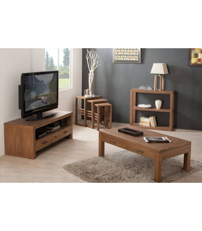 Table Gigogne En Bois Massif Lot De 3 Tables Lorie