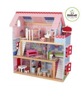 Maison de poupées rose 5 pièces